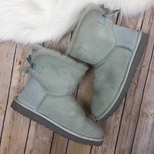 UGG Bailey Bow Mini Boots Baby Blue